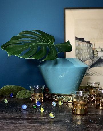Ceramiczny wazon turkusowy