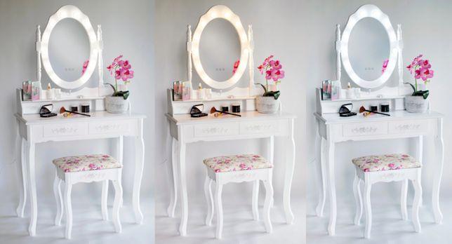Piękna toaletka kosmetyczna z lustrem LED +Gratisy PROMOCJA