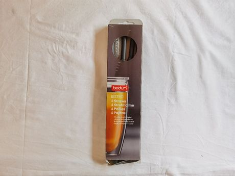 Vendo Bodum BISTRO 4 palhinhas de plastico e escova de limpeza