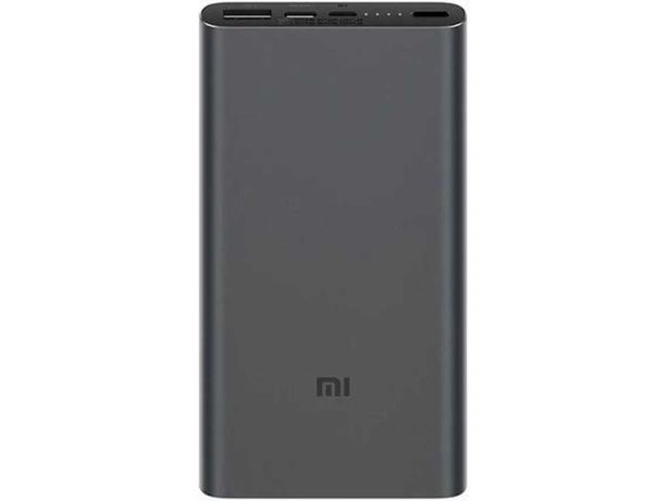 Powerbank XIAOMI Mi (10000 mAh - 2 USB - MicroUSB - USB-C - Preto)