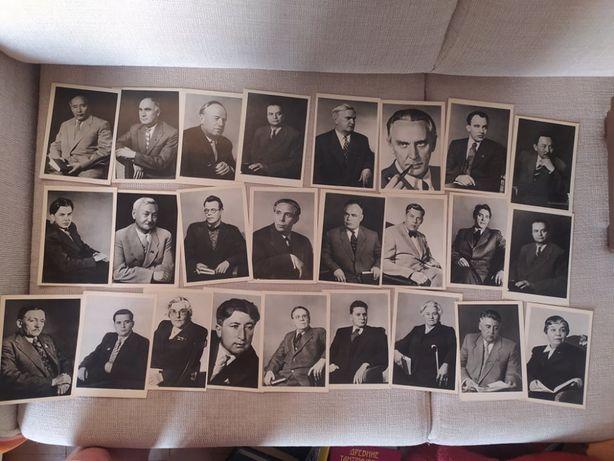 Набор 24 открыток - портреты советских писателей 1963г.