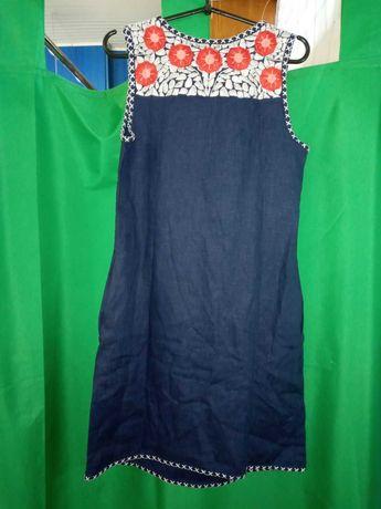 Туника платье летнее бохо новое фирма Raslov вышивка