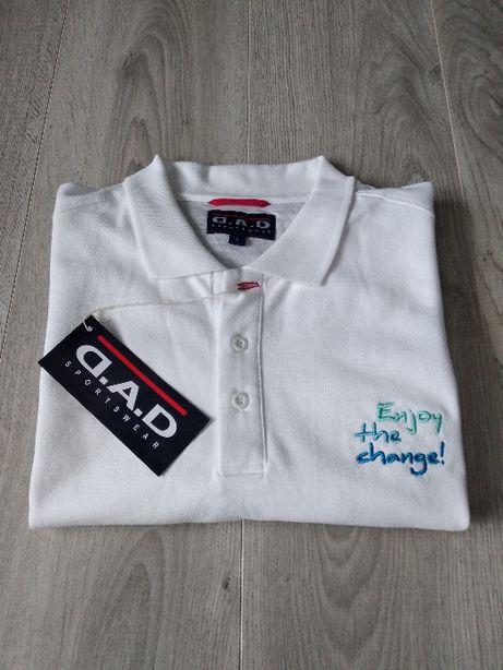Nowa biała męska koszulka polo (L)