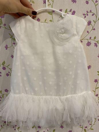 Платье детское белое нарядное