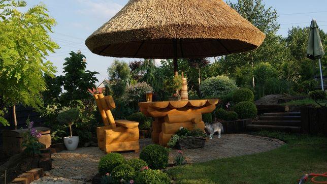 Parasol ogrodowy z trzciny, pod strzechą, z meblami . PRODUCENT!