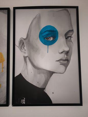 Obrazy/Plakaty w czarnych ramach