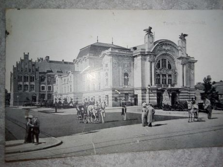 Pocztówka Toruń Teatr Miejski z 1928 roku