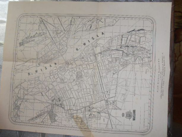 Plan miasta Warszawy 1873