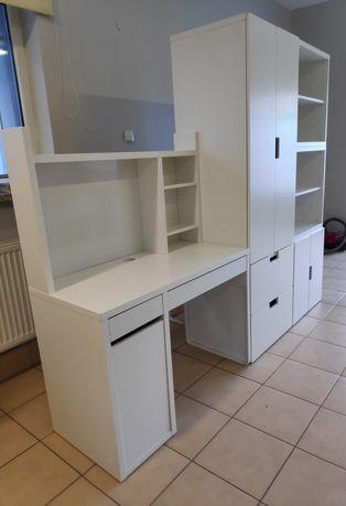 Meble Stuva - zestaw biurko, szafa, regał IKEA