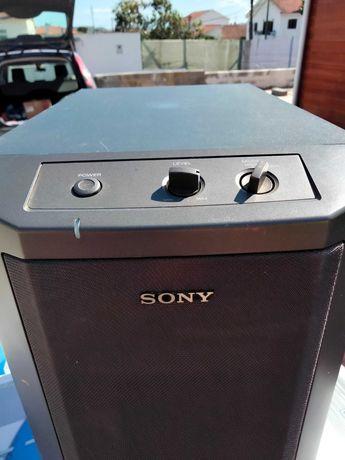 Subwoofer Sony em cor cinza