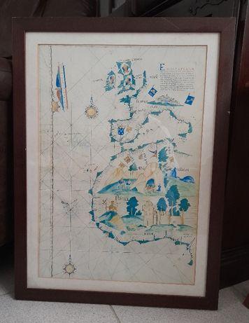 Mapa n.º 22 do Atlas de Luiz Lázaro (1563) - Europa Ocidental e parte