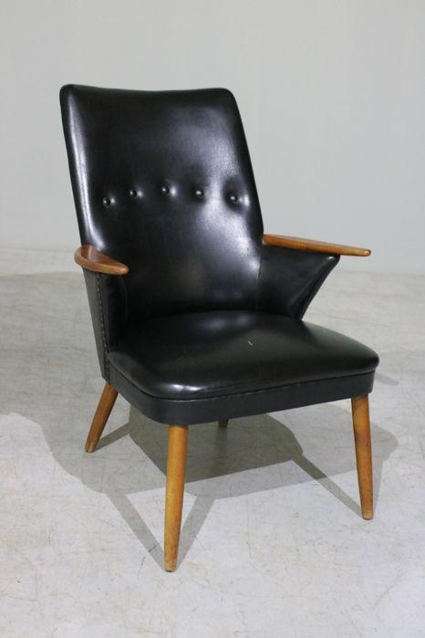Poltrona dinamarquesa  Armchair design  Escandinavo  Retro Vintage Balazar - imagem 1