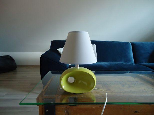 Lampka nocna jasna zieleń i szary abażur 33cm / mam 2 sztuki