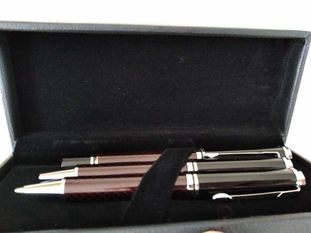 Długopis, pióro i ołówek w etui