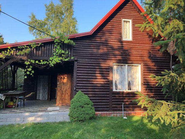 Sprzedam dom drewniany letniskowy z działką Leśnik koło Uniejowa