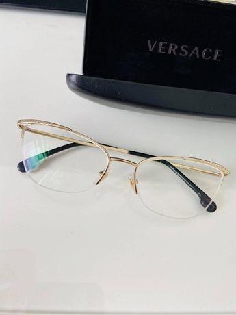 Okulary korekcyjne Versace złote damskie oryginalne