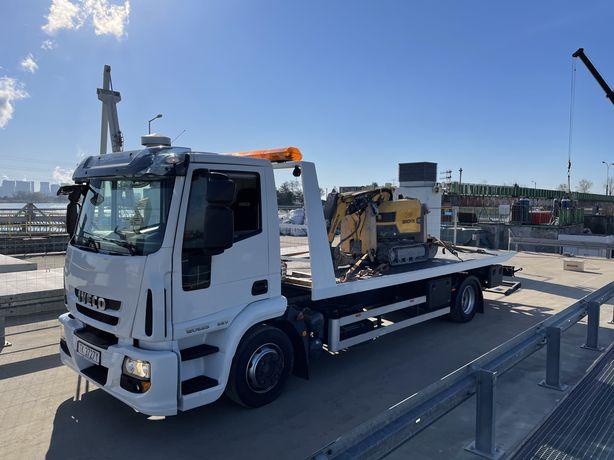 Transport Maszyn Rolniczych Budowlanych Wózków Widłowych Pomoc Drogowa