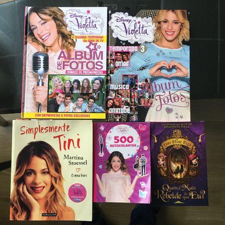 PACK 5 livros infantil criança disney violetta e outros