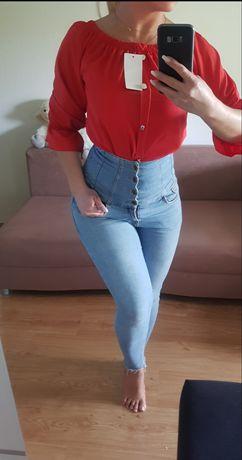 Bluzka czerwona hiszpanka