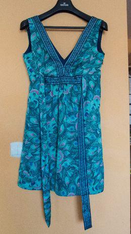 Piękna, turkusowa, letnia sukienka / tunika, H&M, rozm. M, jak nowa