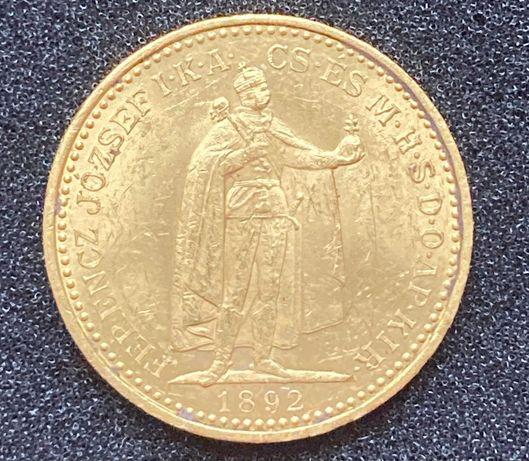 Złota moneta 20 Koron 1892 r. Węgry