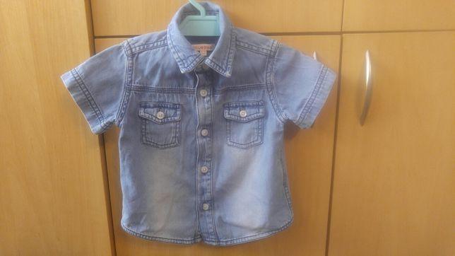 Koszula jeansowa r.80