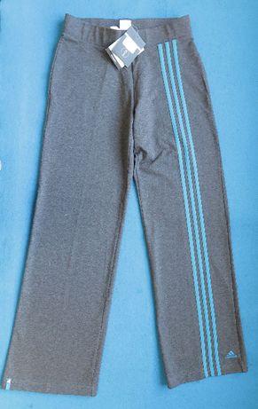 ADIDAS spodnie L 40 dresowe dres dresy CLIMALITE NOWE