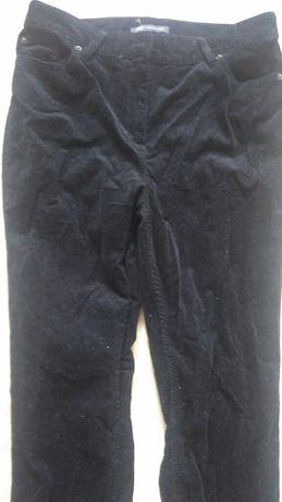 Spodnie czarne sztruks 40