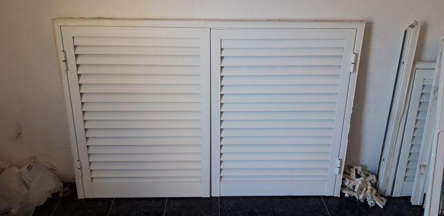Portadas em alumínio branco 2 unidades