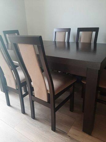 Stół i komplet 6 krzeseł