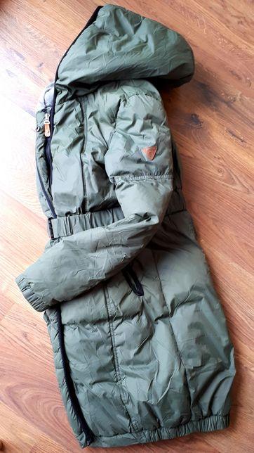 Płaszcz pikowany płaszczyk parka kurtka S khaki Carry 36