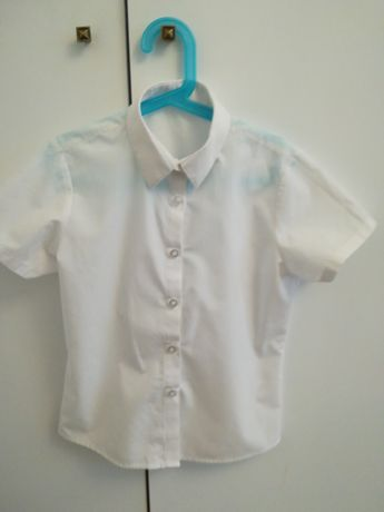 Biała bluzka koszula George 128 134