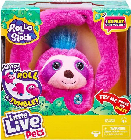Интерактивная игрушка ленивец Ролло Little Live Pets Rollo The Sloth