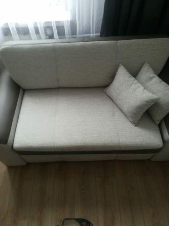 Kanpa, sofa, funkcja spania, beżowy/kawowy/szary