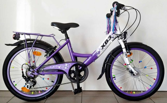 """Rower dla dziewczynki śliczny dziecięcy koła 20"""" 100% sprawny JAK NOWY"""