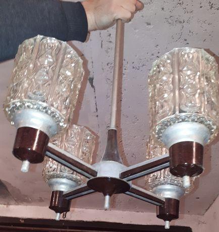 Люстра времён СССР на 4 лампы (плафона)