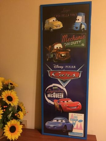 Plakat poster auta cars zygzak mcqueen zlomek luigi Disney 159x57