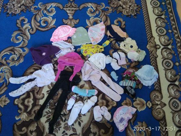 Детские носки колготки шапочки панамки