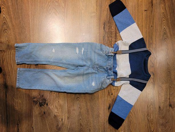 Nowy sweter+spodnie dżinsowe rozmiar98H&M