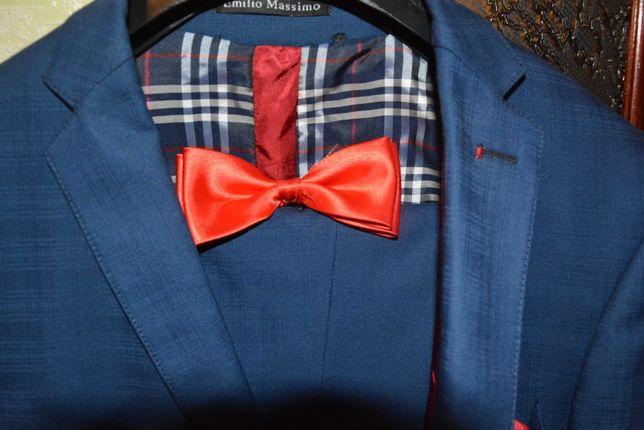 Мужской классический костюм в синем цвете