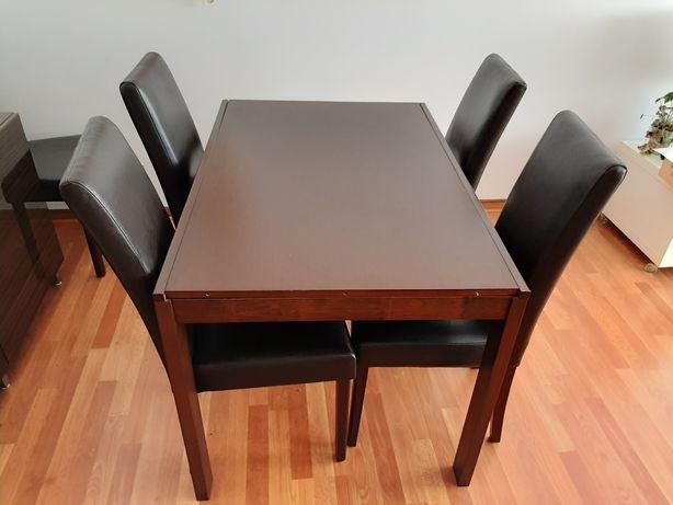 Mesa de jantar extensível + 5 cadeiras