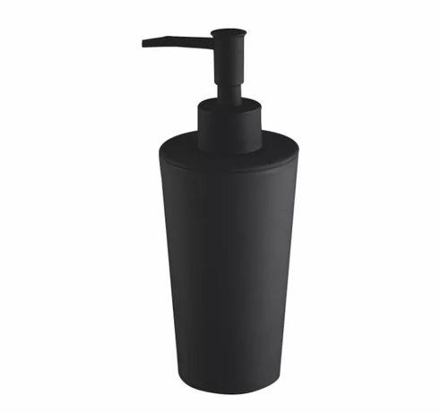 Czarny matowy dozownik do mydła