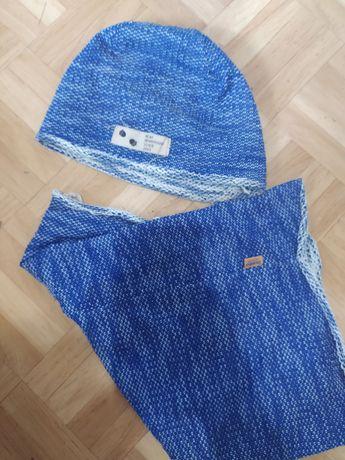 Комплект шапка и хомут на Мальчика, фирма Dembo House, ОГ 50 см