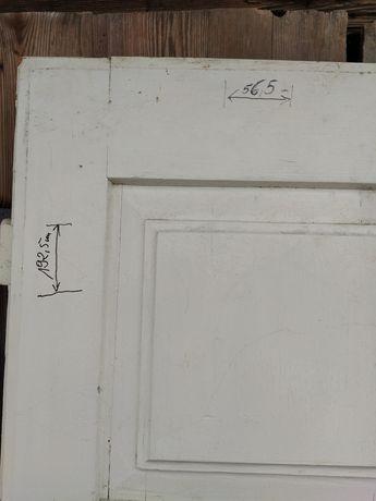 Drzwi podwójne stare sosnowe w dobrym stanie