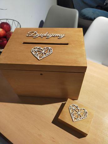 Pudełko na koperty i pudełko na obrączki, idealne na wesele