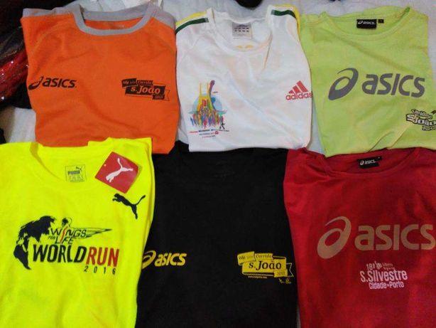 T.shirts técnicas de corrida ASICS ADIDAS PUMA