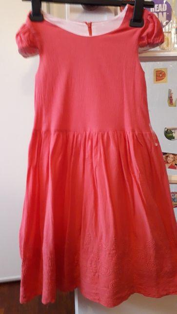 NOWA malinowa sukienka na podszewce r.140