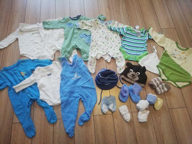 Ciuszki ubranka dla chłopca rozmiar 56-74. Ponad 130 szt
