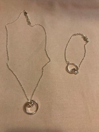 SWAROVSKI-Łańcuszek,bransoletka z kryształkami