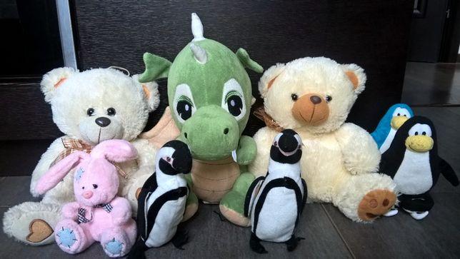 Misie, pingwinki, króliczek, dinozaur, maskotki pluszowe